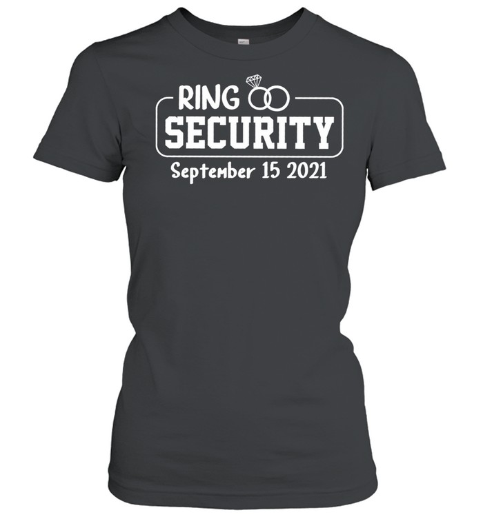 Personalized Ring Security Ring Bearer Outfit Wedding Day shirt Classic Women's T-shirt