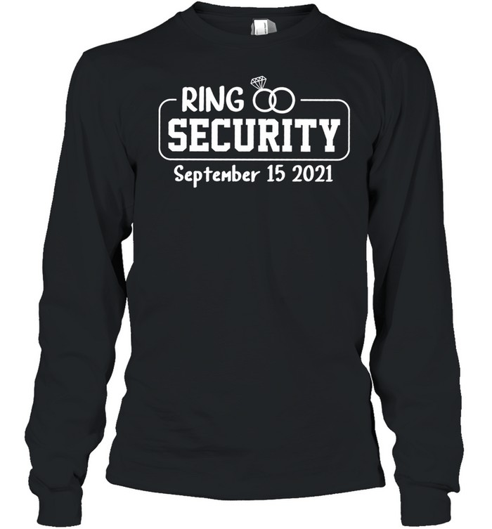 Personalized Ring Security Ring Bearer Outfit Wedding Day shirt Long Sleeved T-shirt
