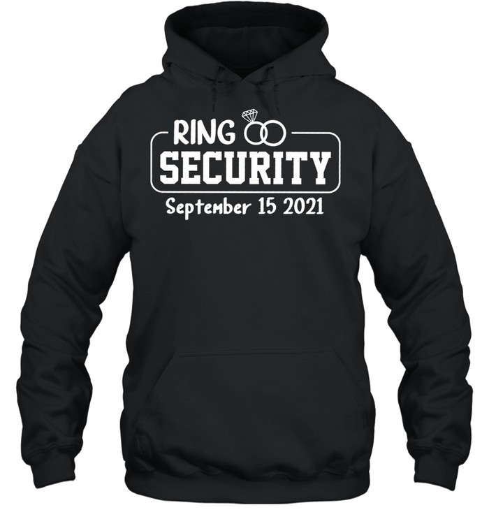 Personalized Ring Security Ring Bearer Outfit Wedding Day shirt Unisex Hoodie