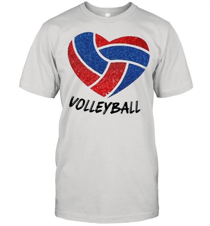 Love Volleyball Heart  Classic Men's T-shirt