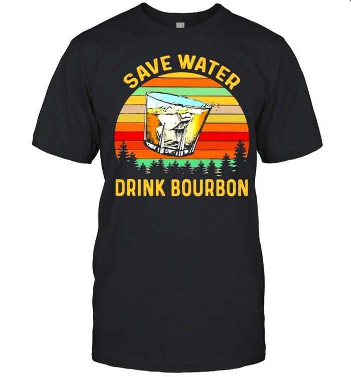 Save Water Drink Bourbon Vintage  Classic Men's T-shirt