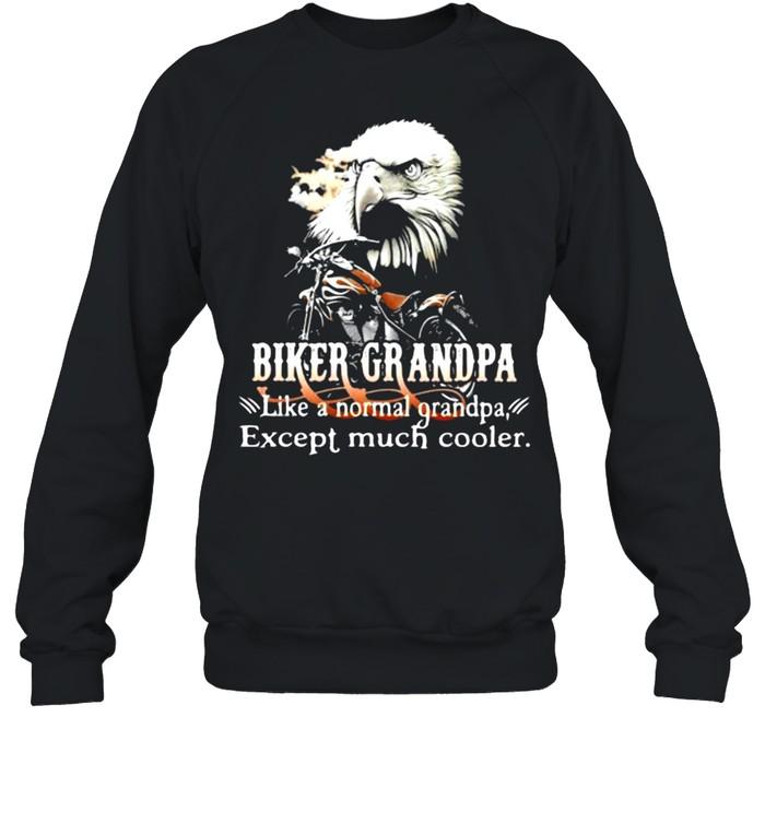 Biker Grandpa Like A Normal Grandpa Except Much Cooler Owl Unisex Sweatshirt