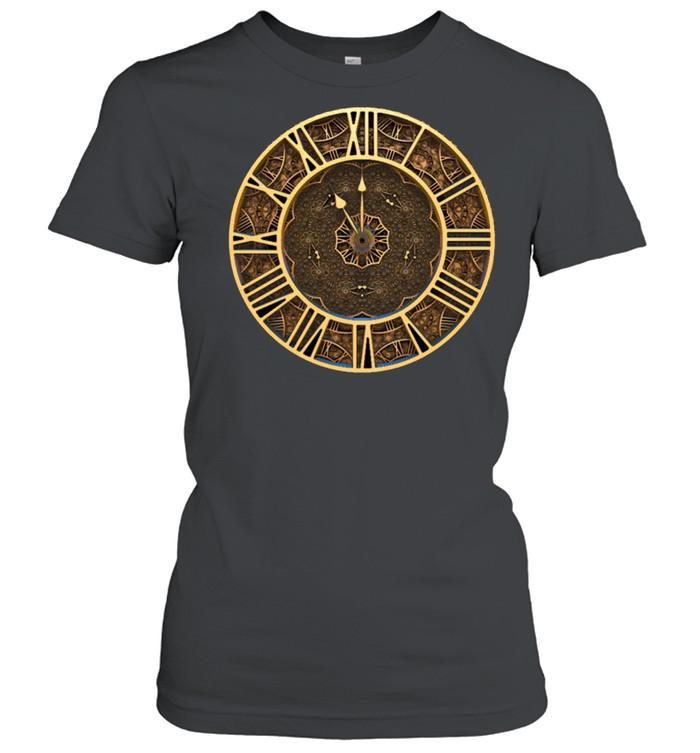 Steampunk Retro Vintage Rusty Art Deco Clock shirt Classic Women's T-shirt