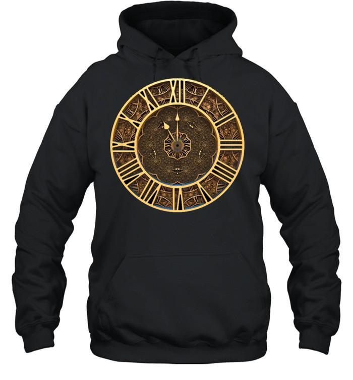 Steampunk Retro Vintage Rusty Art Deco Clock shirt Unisex Hoodie