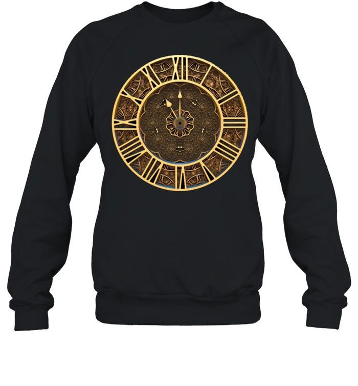 Steampunk Retro Vintage Rusty Art Deco Clock shirt Unisex Sweatshirt
