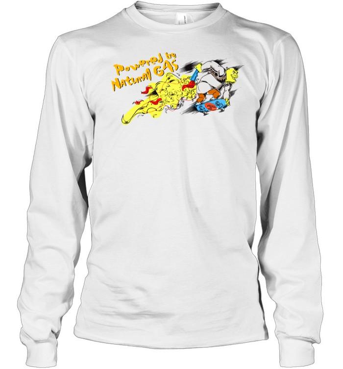 DreamWorks Shrek Powered by Natural Gas shirt Long Sleeved T-shirt