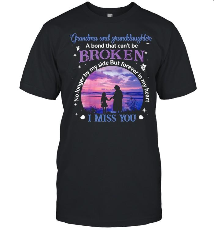 Grandma And Granddaughter A Bond That Can't Be Broken I Miss You T-shirt Classic Men's T-shirt