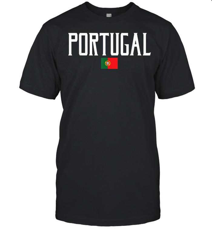 Portugal Flag Vintage White Text shirt Classic Men's T-shirt