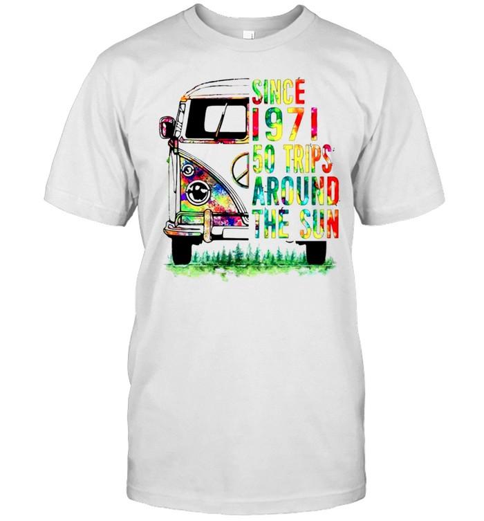 Hippie since 1971 50 trips around the sun shirt Classic Men's T-shirt