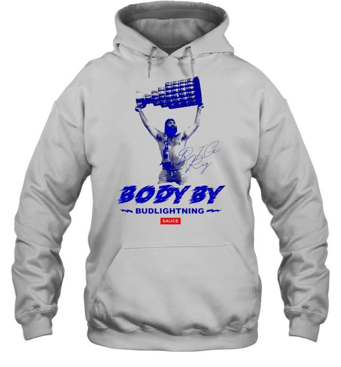 Body by bud lightning sauce shirt Unisex Hoodie
