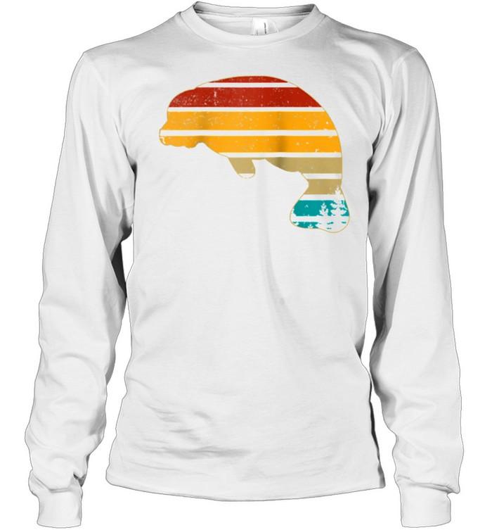 Manatee Floaty Potato Vintage Retro 70S Teens shirt Long Sleeved T-shirt