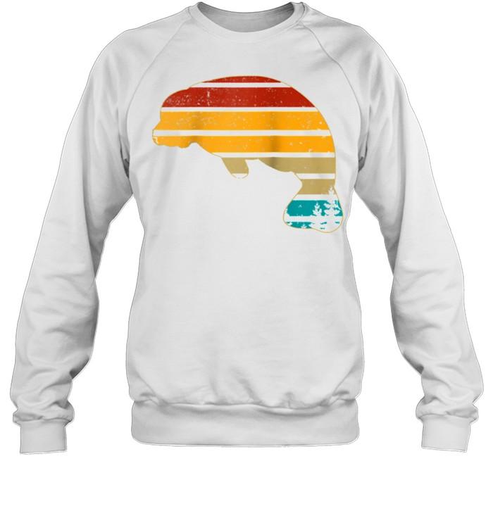 Manatee Floaty Potato Vintage Retro 70S Teens shirt Unisex Sweatshirt