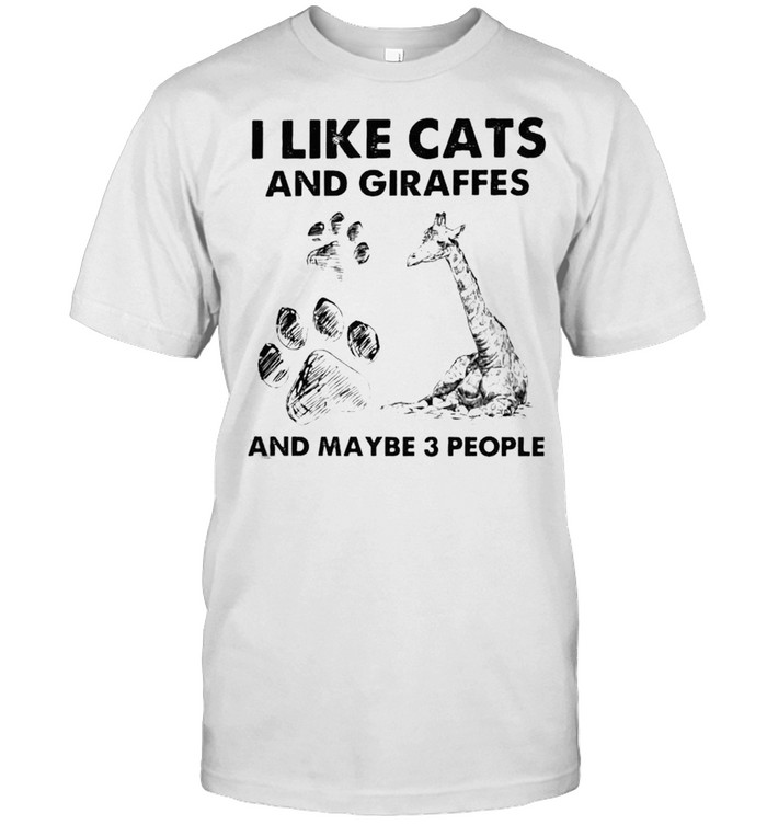 I like cats and giraffes and maybe 3 people shirt Classic Men's T-shirt