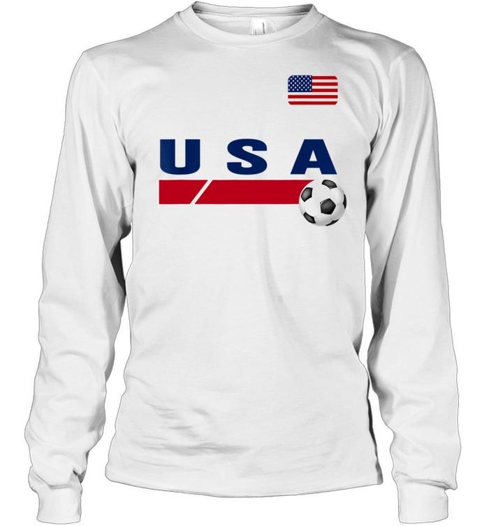 USA Support USA Soccer shirt Long Sleeved T-shirt