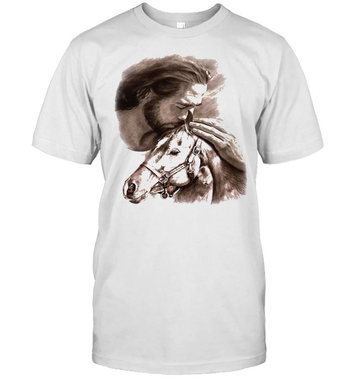 Horses Jesus love Horse shirt Classic Men's T-shirt