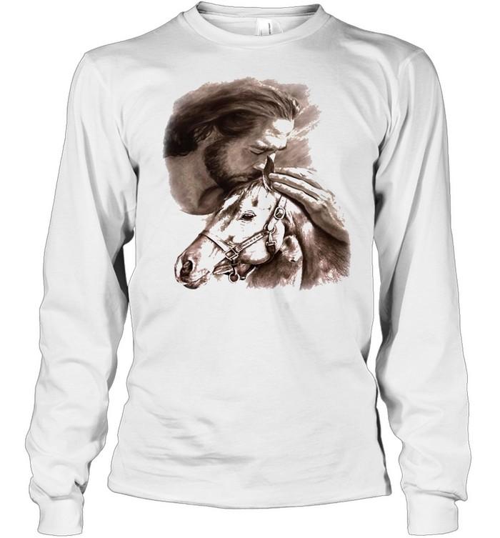 Horses Jesus love Horse shirt Long Sleeved T-shirt