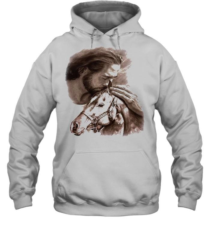 Horses Jesus love Horse shirt Unisex Hoodie