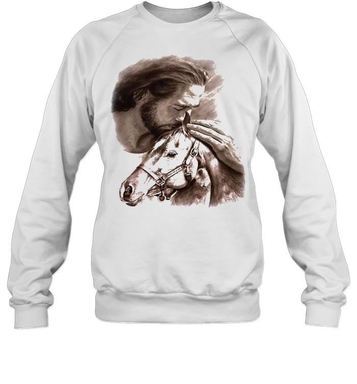 Horses Jesus love Horse shirt Unisex Sweatshirt
