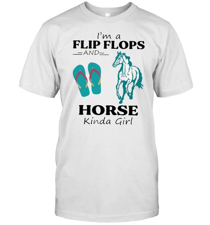 Im A Flip Flops And Horse Kinda Girl shirt Classic Men's T-shirt