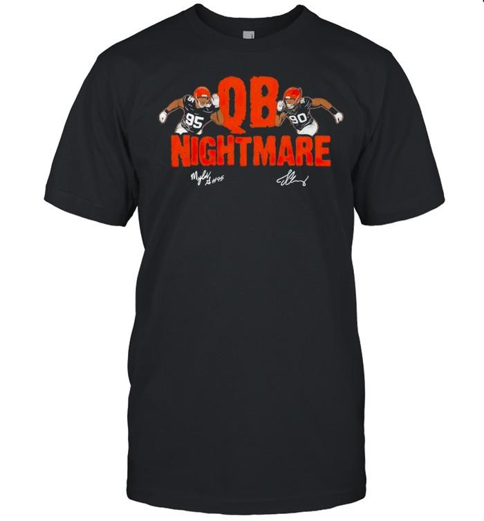 Myles Garrett and Jadeveon Clowney QB nightmare shirt Classic Men's T-shirt