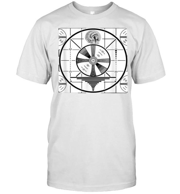 Indian head test pattern vintage television  Classic Men's T-shirt
