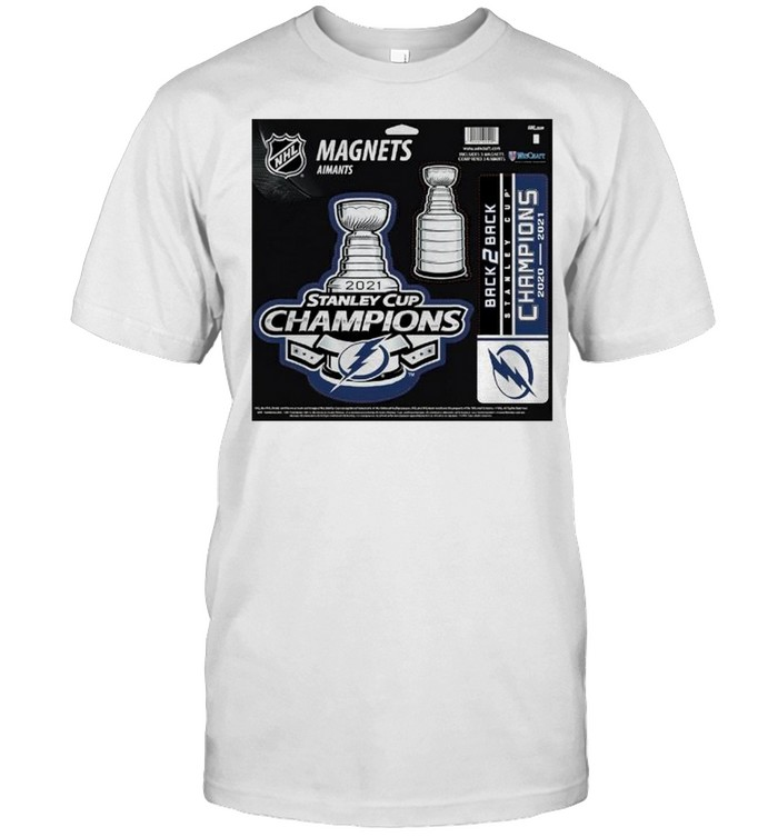Tampa Bay Lightning magnets aimants 2021 Stanley Cup Champions t-shirt Classic Men's T-shirt