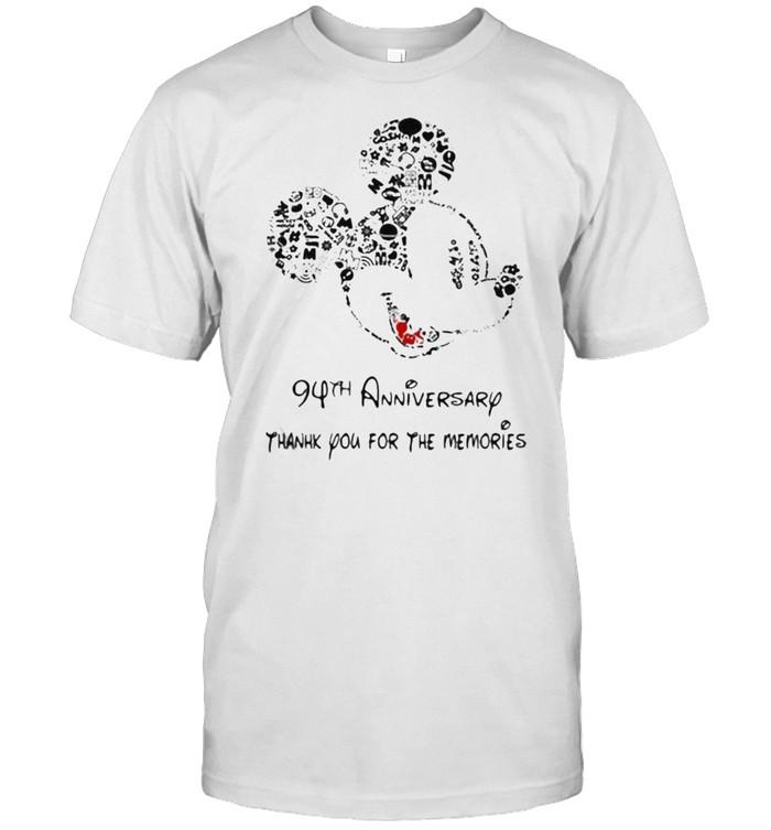 94th anniversary thank you for the memories mickey disney shirt Classic Men's T-shirt