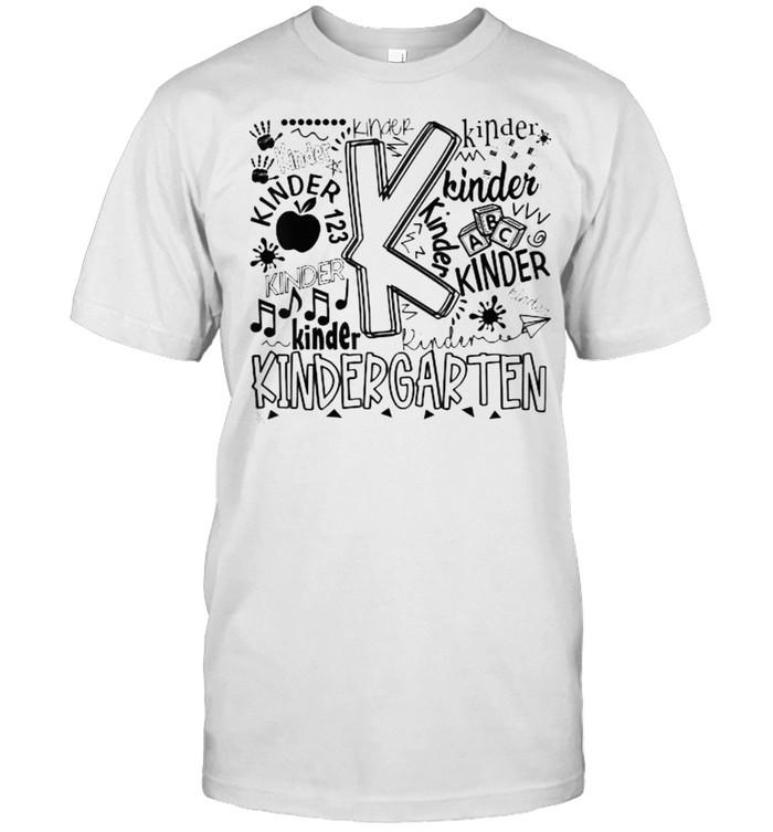 Kindergarten Typography Back To School Kindergarten  Classic Men's T-shirt