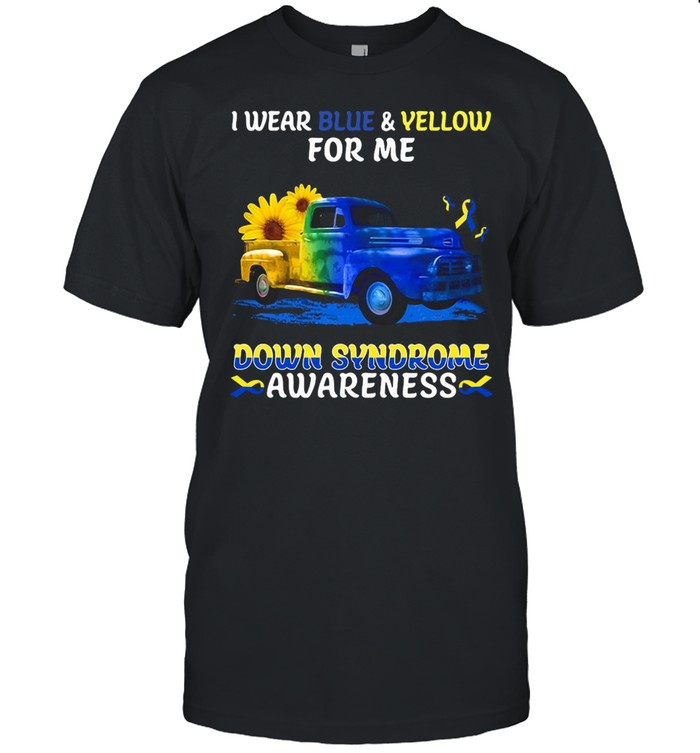 I Wear Blue And Yellow For My Down Syndrome Awareness T-shirt Classic Men's T-shirt