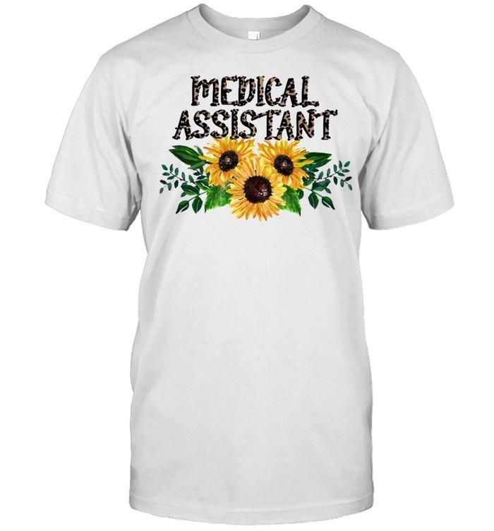 Medical Assistant Leopard Sunflower 2021 shirt Classic Men's T-shirt