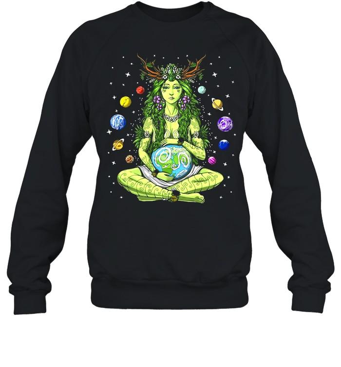 Gaia Greek Goddess Pagan Mother Earth Hippie Nature Witchy T-shirt Unisex Sweatshirt