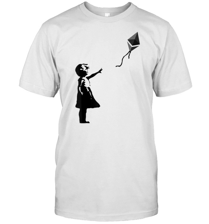 Girl with ETH balloon  Classic Men's T-shirt
