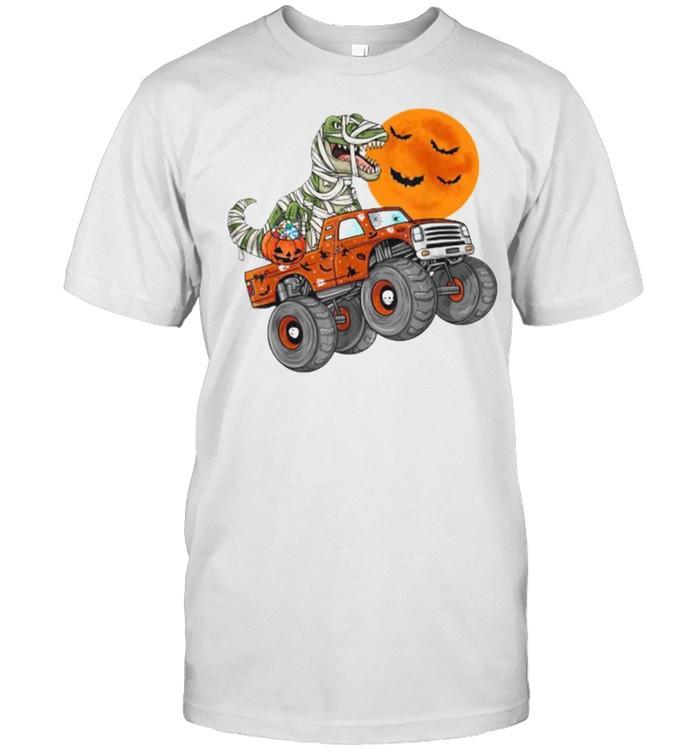 Halloween Mummy T Rex Monster Truck Pumkin  Classic Men's T-shirt