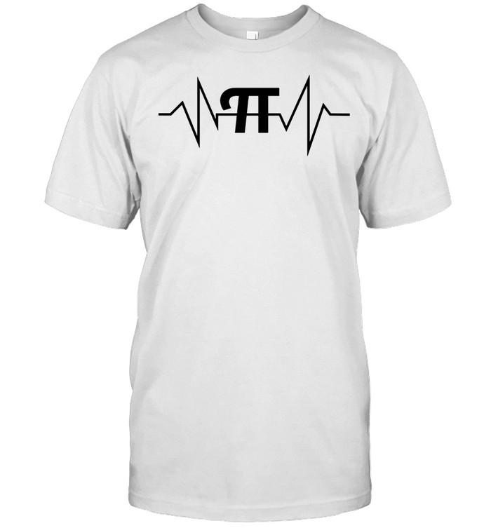 Pi Heartbeat Math and Geek shirt Classic Men's T-shirt