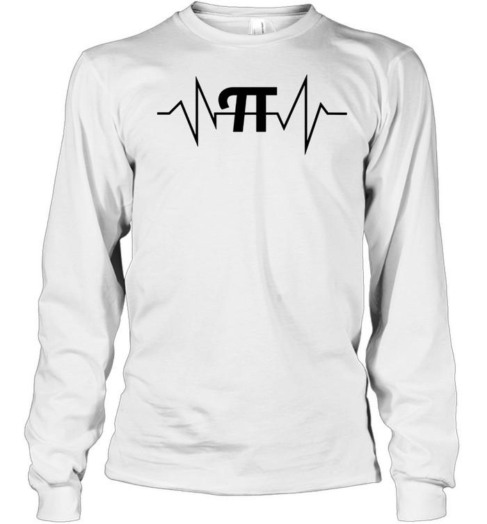 Pi Heartbeat Math and Geek shirt Long Sleeved T-shirt