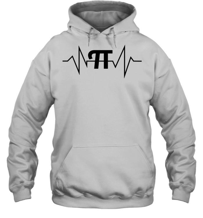 Pi Heartbeat Math and Geek shirt Unisex Hoodie
