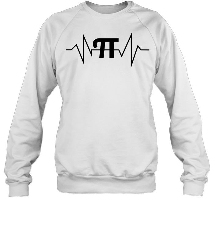 Pi Heartbeat Math and Geek shirt Unisex Sweatshirt