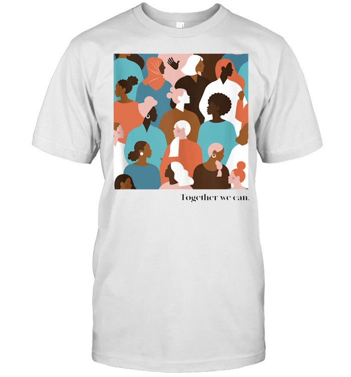 Together We Can, Color Faces Mural shirt Classic Men's T-shirt