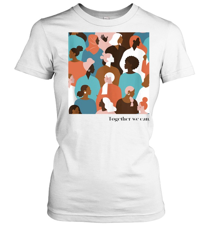 Together We Can, Color Faces Mural shirt Classic Women's T-shirt
