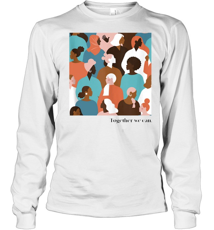 Together We Can, Color Faces Mural shirt Long Sleeved T-shirt