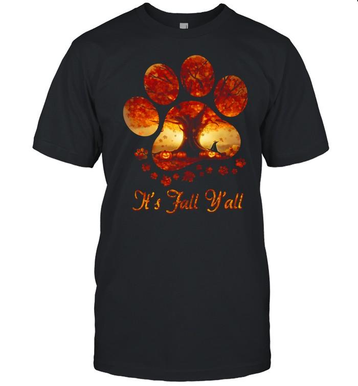 Paw tree It's fall y'all halloween shirt Classic Men's T-shirt