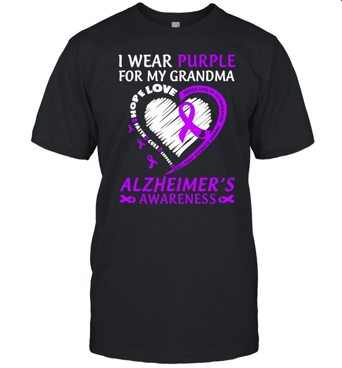 I Wear Purple For My Grandma Alzheimers Awareness  Classic Men's T-shirt