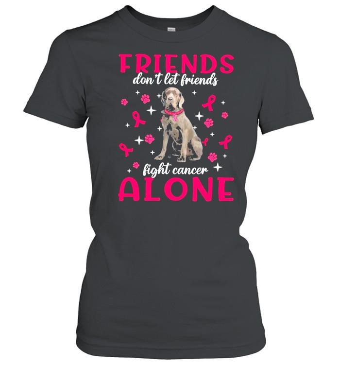 Neapolitan Mastiff Friends dont let Friends fight cancer Alone Pink shirt Classic Women's T-shirt