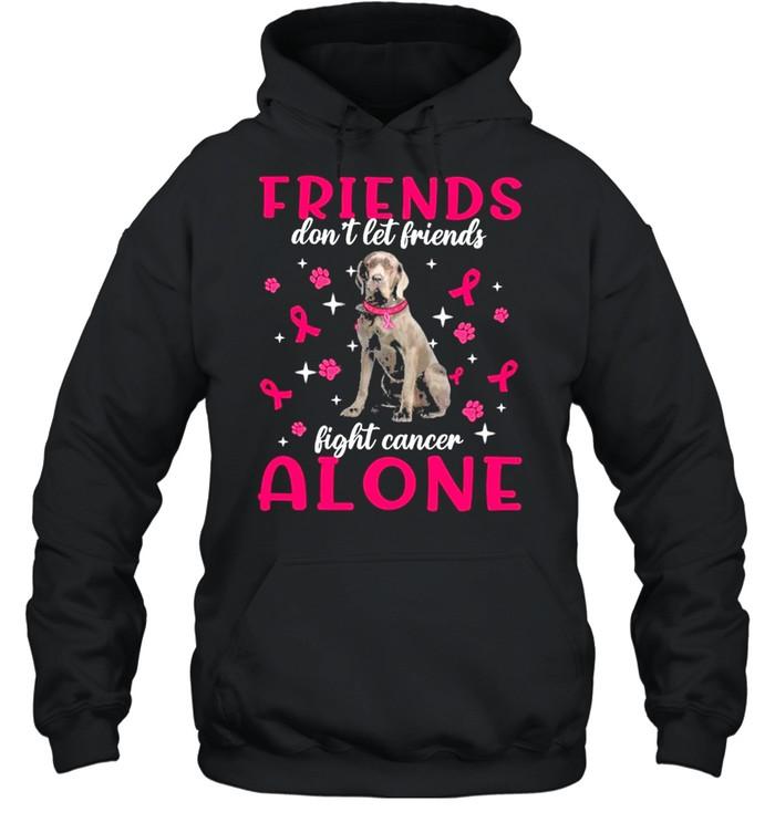 Neapolitan Mastiff Friends dont let Friends fight cancer Alone Pink shirt Unisex Hoodie