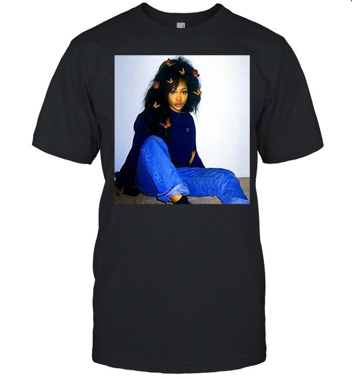 Graphic Sza's Distressed Arts Costume American Singers Music T-shirt Classic Men's T-shirt