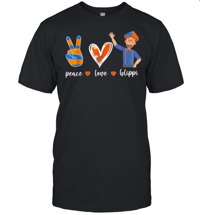 Peace Love Blippis Heart T- Classic Men's T-shirt