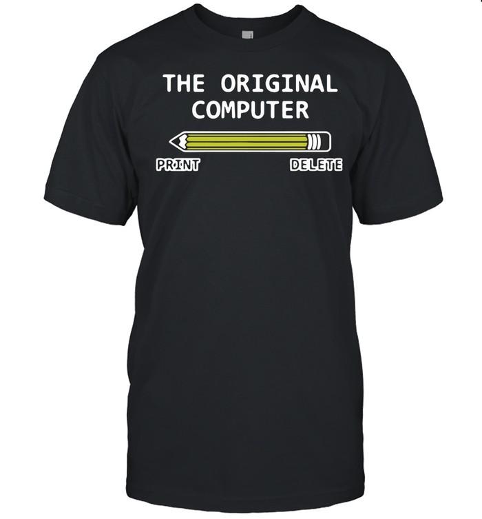 The Original Computer Print Delete T-shirt Classic Men's T-shirt