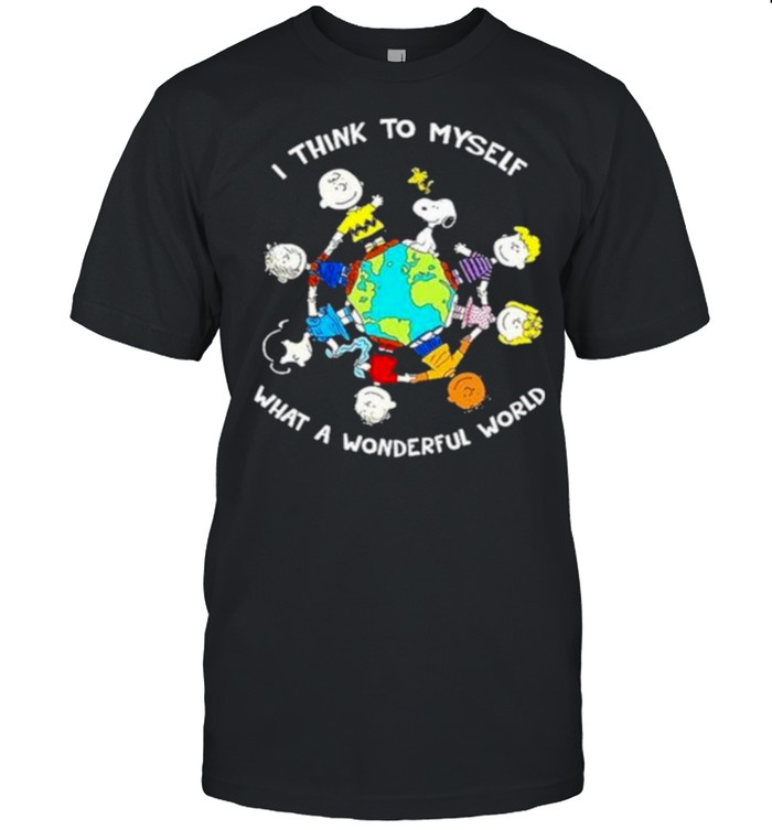 I Think To Myself What A Wonderful World Snoopy And Friend  Classic Men's T-shirt