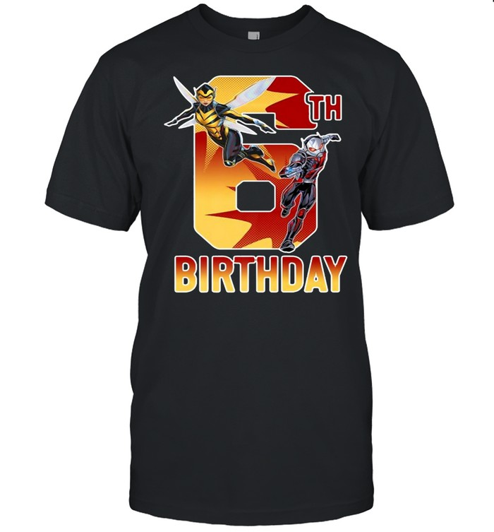 Marvel Ant-Man And Wasp 6Th Birthday T-shirt Classic Men's T-shirt