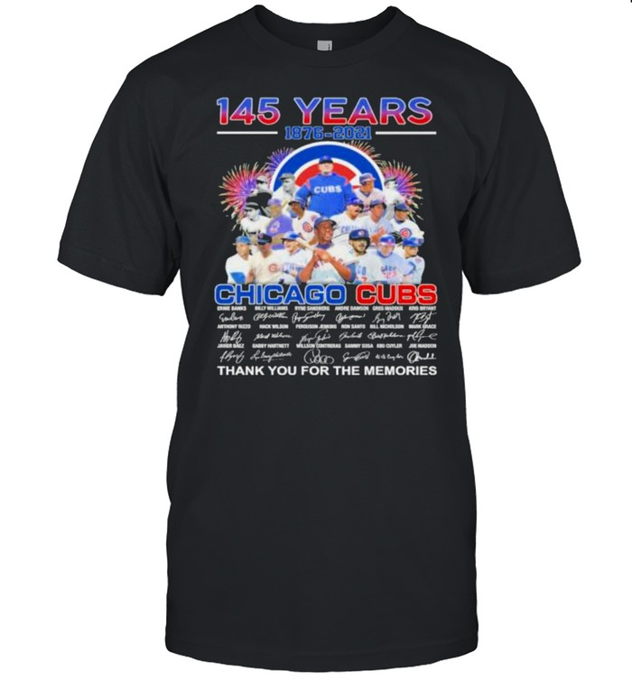 145 Years 1876 2021 Chicago Cubs  Classic Men's T-shirt
